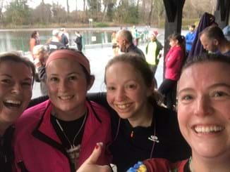 Members of WI Heaton Mess running group at parkrun